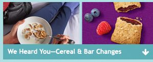 Cereal and Bar Changes